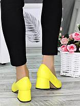 Туфли лодочки желтые Laura 7327-28, фото 3