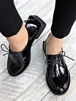 Туфли оксфорды черная кожа 7378-28, фото 3