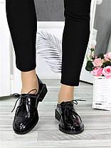 Туфли оксфорды черная кожа 7378-28, фото 2