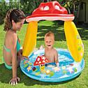 Детский Надувной Бассейн Грибочек Intex 57114 102х89 см, фото 3