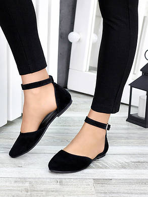Туфлі Аліса чорна замша 7420-28, фото 2