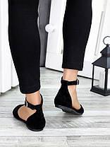 Туфли Алиса черная замша 7420-28, фото 2