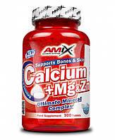 Минеральные комплексы Amix nutrition Calcium + mg + zn tbl 100tbl