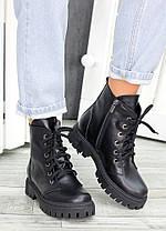 Ботинки на шнуровке черная кожа 7459-28, фото 2