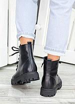 Ботинки на шнуровке черная кожа 7459-28, фото 3