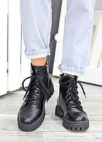 Ботинки на шнуровке черная кожа 7462-28, фото 3