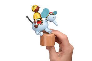 Іграшка Goki натисни і тряси Слоник (53932G-4), фото 2