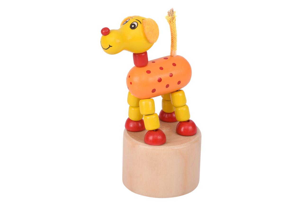 Іграшка Goki натисни і тряси Собачка (53959G-4)