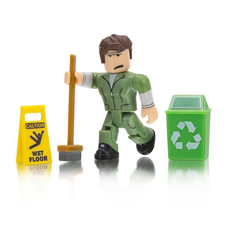 Игровая коллекционная фигурка Jazwares Roblox Сore Figures Welcome to Bloxburg: Glen the Janitor W3 (ROG0106)
