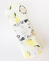 Пеленка муслиновая для новорожденных 120*100 лимоны