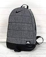 Рюкзак Nike Найк Реплика Серый меланж РM-014, КОД: 1622368