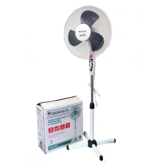 Вентилятор Напольный GRUNHELM GFS-1621 White Gray Мощность 45 Вт Количество Скоростей 3