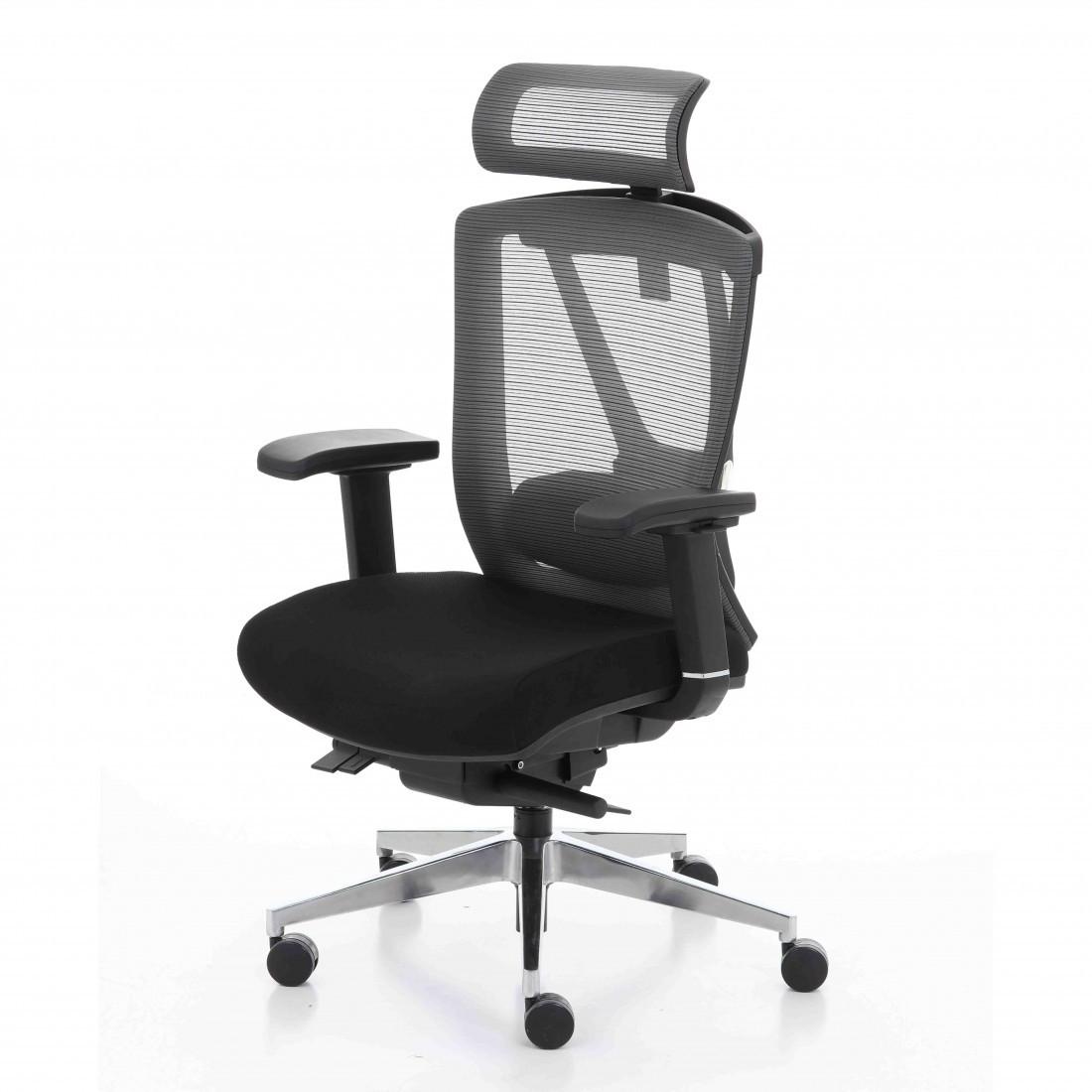 Кресло компьютерное с подголовником Enrandnepr ERGO CHAIR 2 black