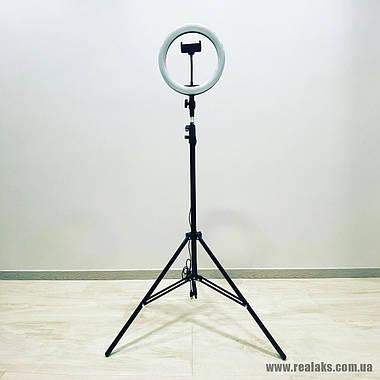 Многофункциональная кольцевая LED лампа RGB SOFT RING LIGHT MJ33 33''см + штатив 1.6 м, фото 3