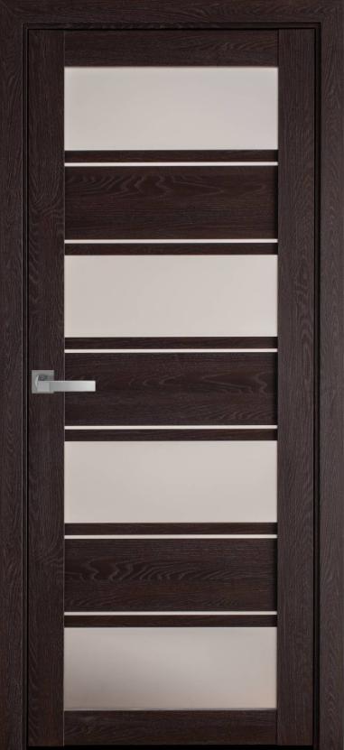"""Дверь межкомнатная остеклённая новый стиль Мода """"Элиза BLK,G"""" 60-90 см дуб мускат"""