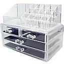 Акриловый Органайзер для Косметики Настольный Cosmetic Organizer Makeup Container Storage Box 4 Drawer, фото 3