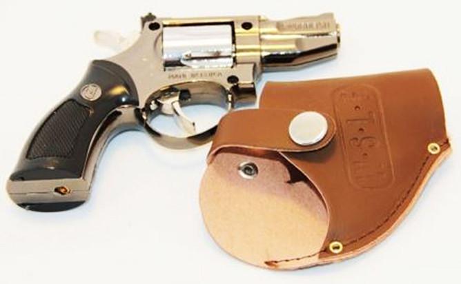 Зажигалка Пистолет в Кобуре Револьвер Малая