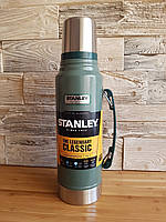 Термос Stanley Classic Hammertone Green 1 л