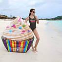 Пляжный Надувной Матрас Кекс Плот Intex 58770 142 х 135 см, фото 4