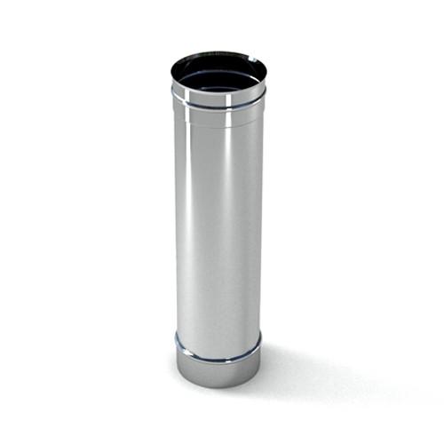 Труба дымоходная одностенная из нержавейки ø100-ø500 (AISI201) 0,5м