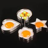 Металлическая форма для яичницы - Круглая, фото 4