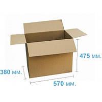 Ящик картонный (570 х 380 х 475), бурый