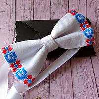 Вишитий метелик-краватка  для чоловіків (ручна робота) , фото 1