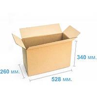 Ящик картонный (528 х 260 х 340), бурая
