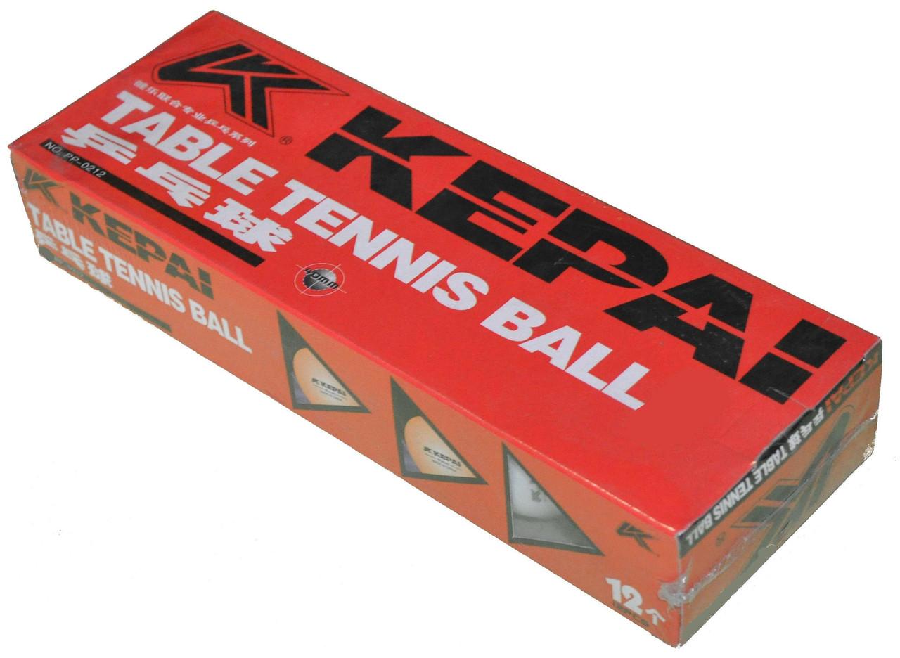 Кулі для настільного тенісу (12шт) KEPAI PP-0212