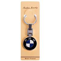 Брелок для ключей авто BMW металлический цветной на цепочке двухсторонний