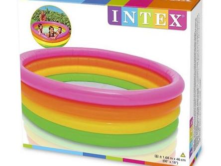 Бассейн Детский Надувной Intex 56441 Радуга 168 см х 46 см