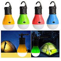 Лампа с крючком для палатки кемпинг 3 LED фонарь на батарейках