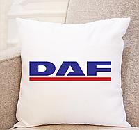Подушка в машину. Подушка Даф DAF. Практичный подарок водителю. (можно с номером авто)