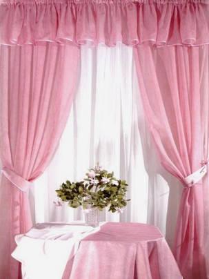 Комплект для кухни Ева Розовый (шифон-вуаль), фото 2