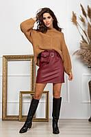 Женская юбка из эко-кожи, фото 1