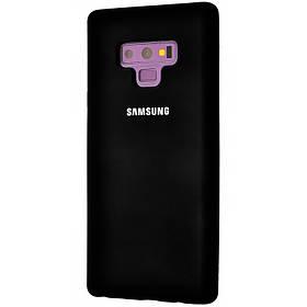 Чехол Silicone Cover Full Protective (AA) для Samsung Galaxy Note 9. Черный / Black