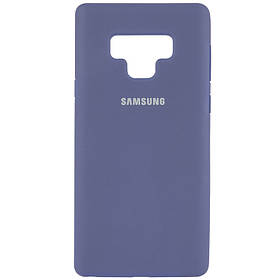 Чехол Silicone Cover Full Protective (AA) для Samsung Galaxy Note 9. Серый / Lavender Gray
