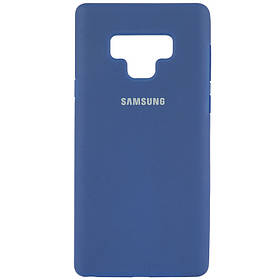 Чехол Silicone Cover Full Protective (AA) для Samsung Galaxy Note 9. Синий / Navy Blue
