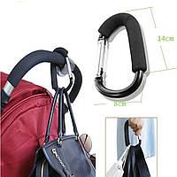 Держатель-карабин для сумок на коляску