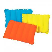 Надувна флокірована подушка Travel Pillow