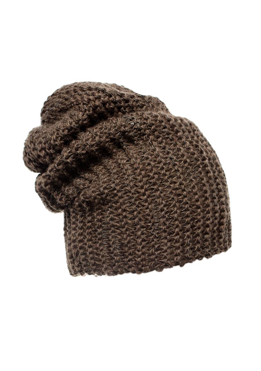 Гарна тепла в'язана шапка жіноча.