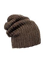 Красивая теплая вязаная шапка женская.