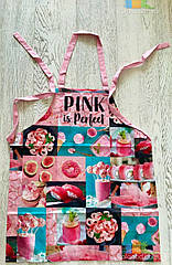 Фартук Передник Фартук Кухонный Tirotex Хлопок 100% Pink Is Perfect Размер 60*70 См