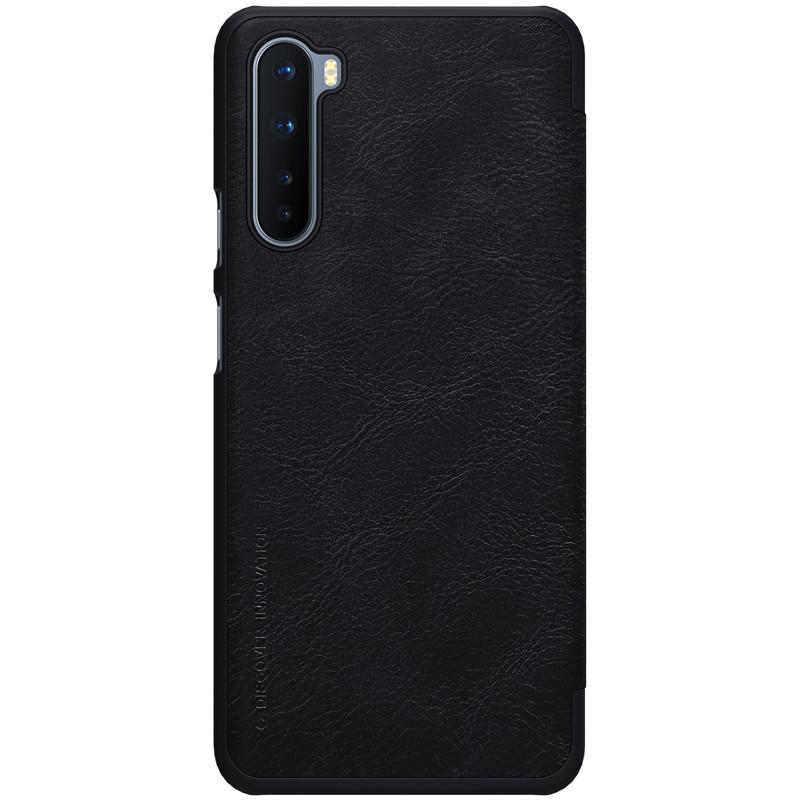 Nillkin OnePlus Nord Qin leather Black case Кожаный Чехол Книжка