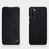 Nillkin OnePlus Nord Qin leather Black case Кожаный Чехол Книжка, фото 4