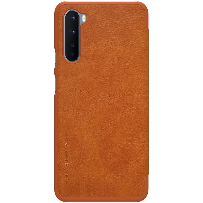 Nillkin OnePlus Nord Qin leather Brown case Шкіряний Чохол Книжка
