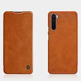 Nillkin OnePlus Nord Qin leather Brown case Шкіряний Чохол Книжка, фото 4