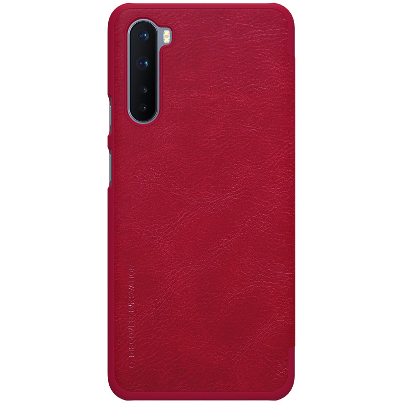 Nillkin OnePlus Nord Qin leather Red case Кожаный Чехол Книжка