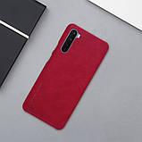 Nillkin OnePlus Nord Qin leather Red case Кожаный Чехол Книжка, фото 6