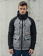 Мужская куртка Staff soft shell gree black & gray, фото 1